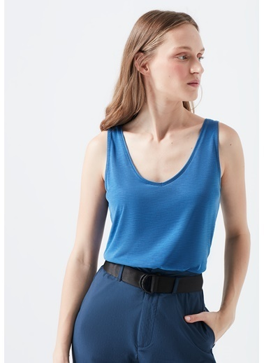 Mavi Kolsuz  Tişört Mavi